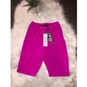 Neon biker shorts